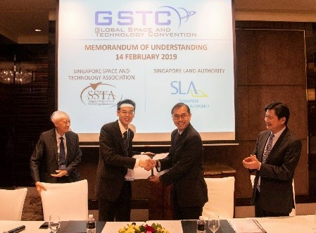 SLA signs memorandum of understanding (MOU) with the Singapore Space and Technology association